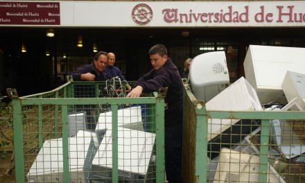 La Universidad de Huelva inicia una campaña de reciclaje de material informático