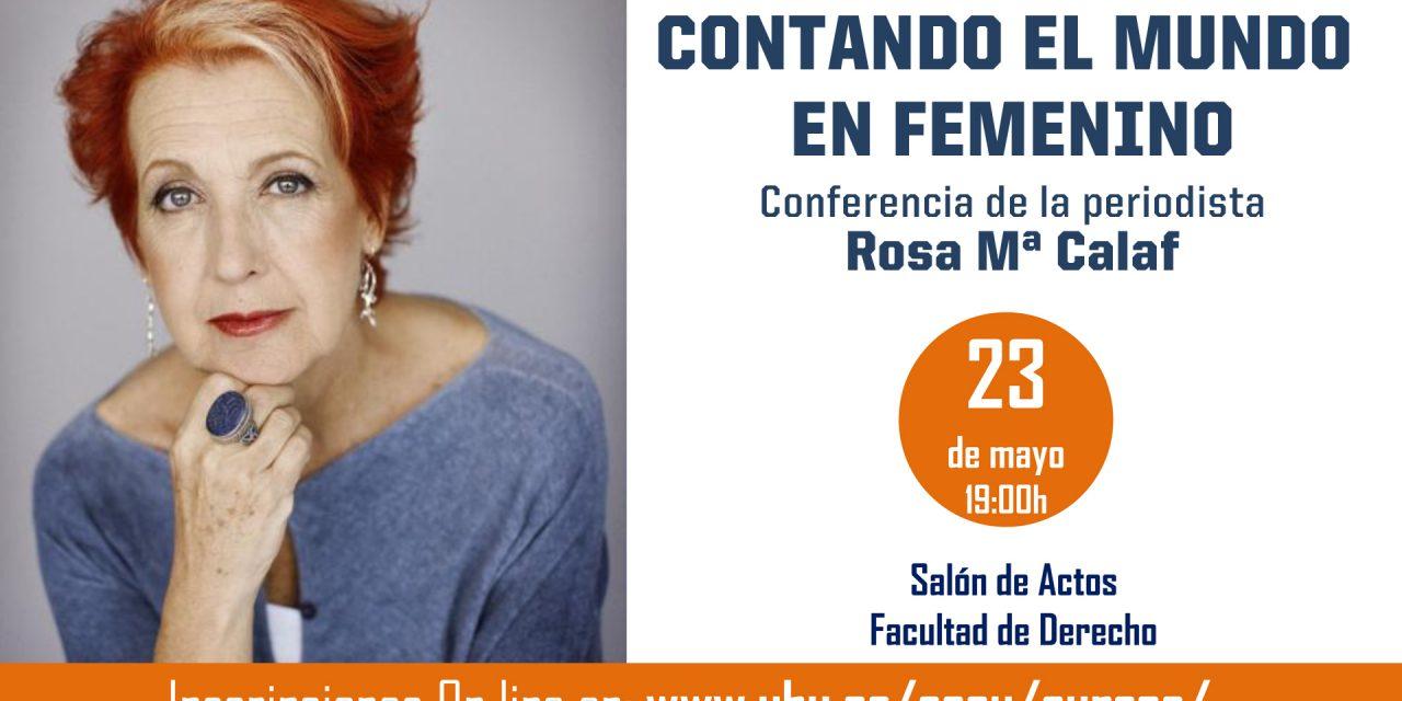 Rosa Mª Calaf acerca mañana ´Warmi. Género y Cooperación Internacional´ a la UHU