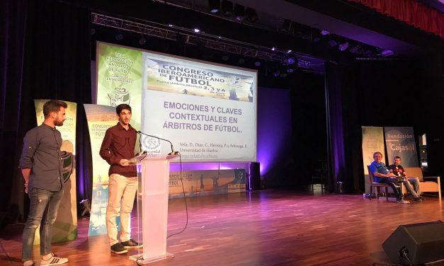 Estudiantes de Psicología exponen sus trabajos en un gran Congreso Iberoamericano de Fútbol