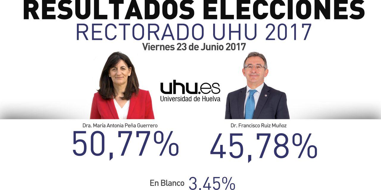 María Antonia Peña, nueva rectora de la Universidad de Huelva