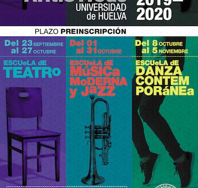 La UHU retoma sus Escuelas de Teatro y Jazz y crea una nueva de Danza Contemporánea