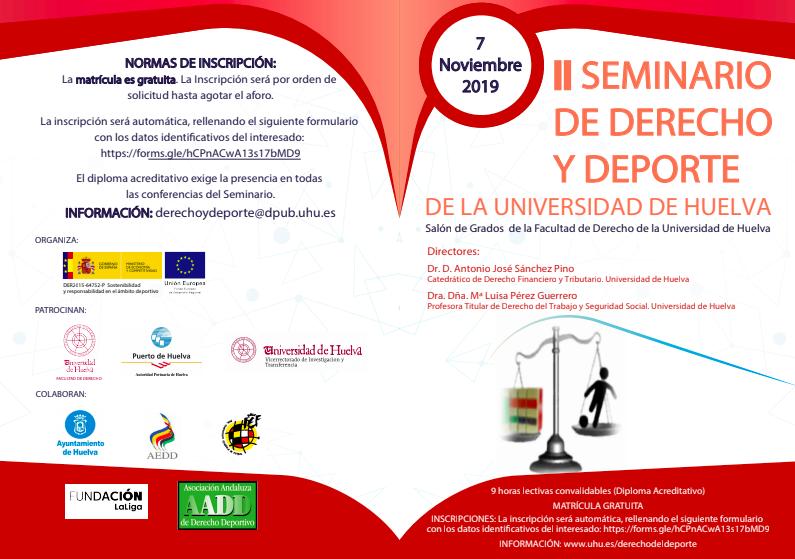 programa seminario derecho y deporte
