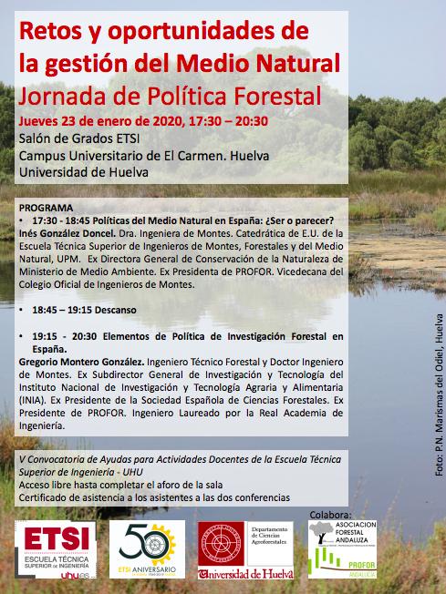 cartel jornadas uhu politica forestal