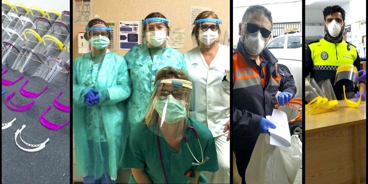 Miembros de la comunidad investigadora de la UHU donan mascarillas y pantallas de protección contra el Covid-19