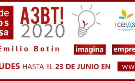 El Campus de Excelencia Internacional CEIA3 organiza junto a Santander Universidades el concurso 'A3BT! 2020' para incentivar la creación de empresas de base agroalimentaria